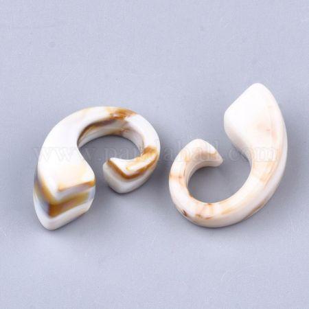 Acrylic Beads, Imitation Gemstone Style, No Hole/Undrilled, Linen, 28.5x17x13mm; about 187pcs/500g