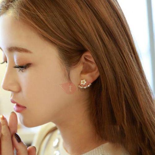 Alloy Korean Floral Party Earrings