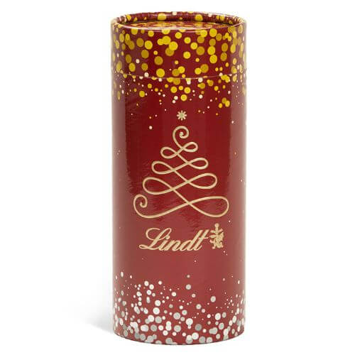 Assorted LINDOR Truffles Holiday Gift Tube (18-pc, 7.6 oz)