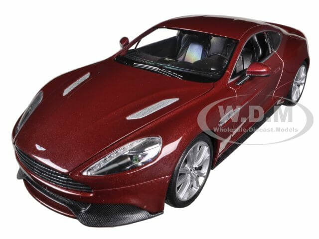 Aston Martin Vanquish Bronze 1-24 Diecast Car Model by Welly