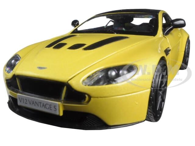 Aston Martin Vantage S V12 Yellow 1-24 Diecast Model Car by Motormax