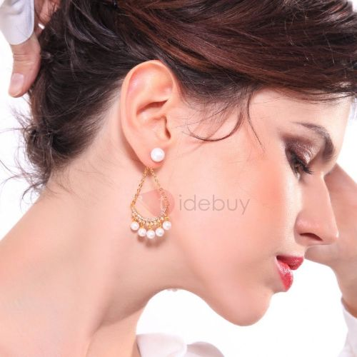 Diamante Overgild Korean Party Earrings