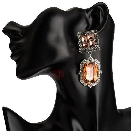 Diamante Rhinestone Vintage Party Earrings