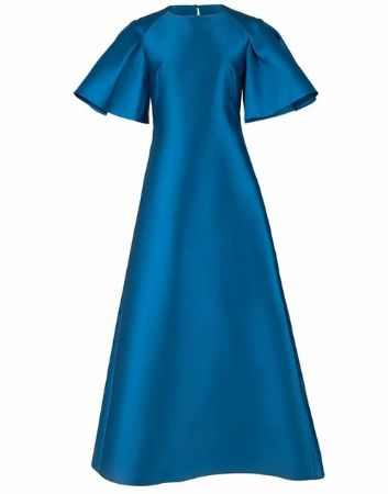 Exaggerated Sleeve Evening Gown