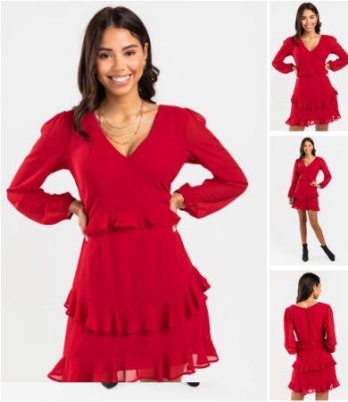Kelsee Tiered Ruffle Mini Dress