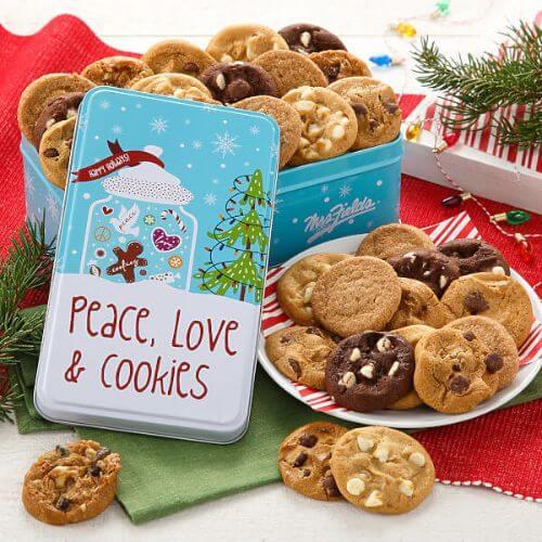 PEACE, LOVE & COOKIES 30 NIBBLERS TIN