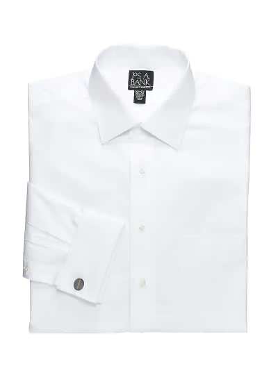 Traveler Collection Tailored Fit Spread Collar French Cuff Dress Shirt