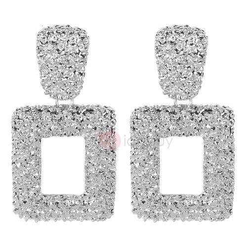 Vintage Metal Square Drop Earrings For Women