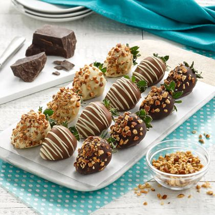 12 Classic Nut & Belgian Chocolate-Covered Berries