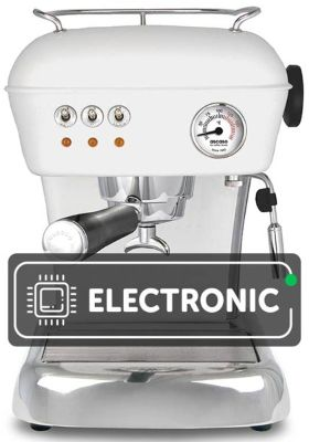 ASCASO DREAM WHITE COFFEE MACHINE WITH AN ELECTRONIC THERMOSTAT + FREE