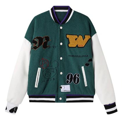 Aelfric Eden Hip Hop Embroidery Graffiti Jackets Men Harajuku Streetwear Thick Baseball Jacket Coats Patchwork Bomber Jacket Top