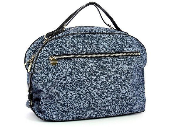 BORBONESE - Blue Medium Top-Handle Sexy Bag