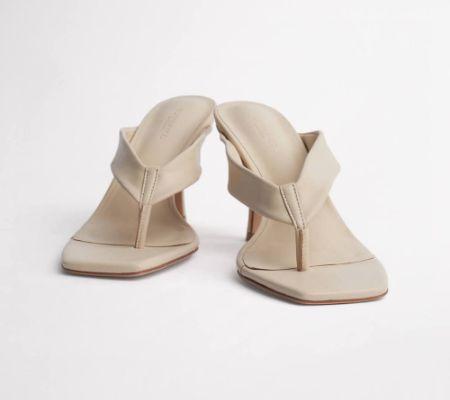 Bellah Vanilla Sheep Nappa Heels