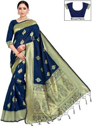 Blue Benarasi Art Silk Saree II