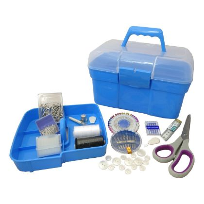 Blue Deluxe Filled Sewing Kit