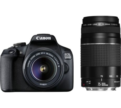 CANONEOS 2000D DSLR Camera with EF-S 18-55 mm II