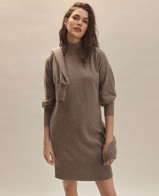 Cashmere Mock Neck Dress