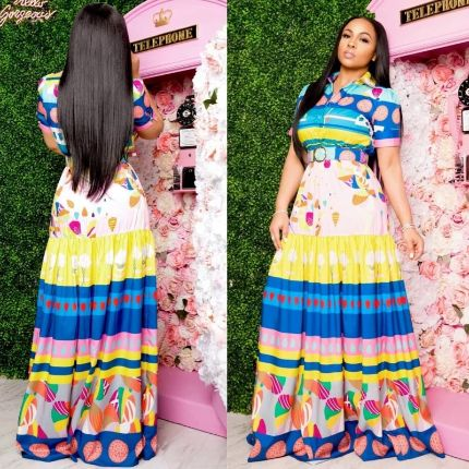 Elegant Short Sleeve African Dresses For Women New Dashiki Autumn Summer Long Maxi Dress Ladies Traditional African Clothing
