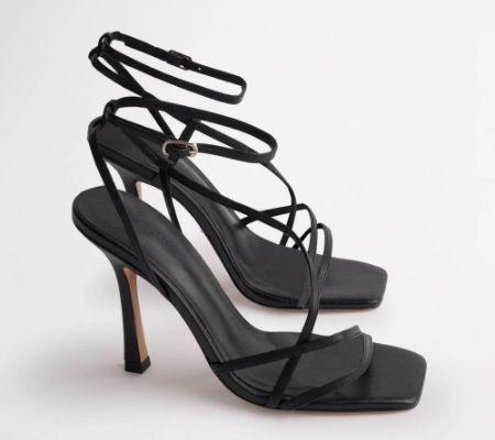 Franci Black Kid Heels
