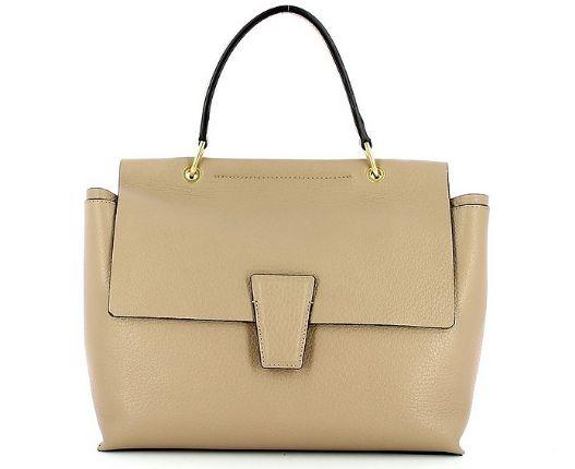 GIANNI CHIARINI - Beige Elettra Large Top Handle Bag