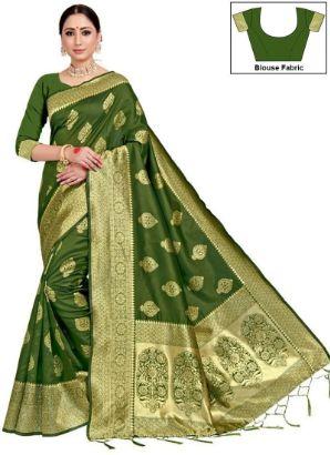 Green Benarasi Art Silk Saree