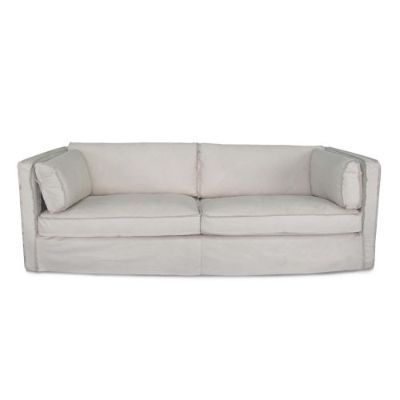Gypsy Cappuccino White Leather Sofa