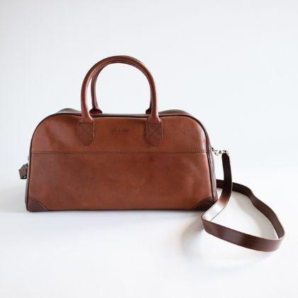 Leather Boston bag VEGA