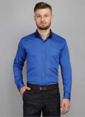 Men Kingsmode Maroon Regular Fit Party Wear Shirt 2
