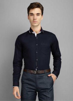 Men Kingsmode Navy Regular Fit Party Wear Shirt 2