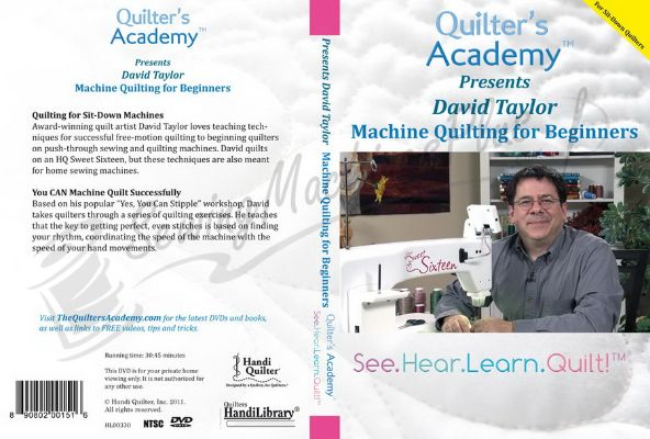 Quilters Academy Presents David Taylor - Machine Quilting for Beginners (DVD)