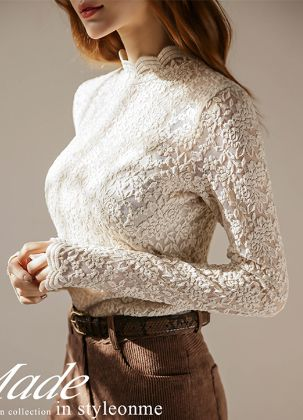 Rose Lace Close fit Top