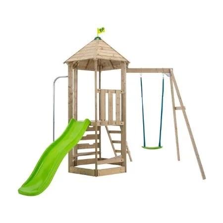 TP Castlewood Ludlow Wooden Single Swing Set & Slide - FSC