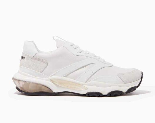 Valentino - Valentino Garavani Leather Bounce Sneakers