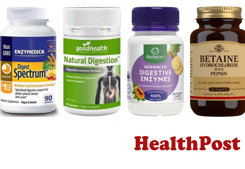 12 Best Selling Digestive Enzymes from HealthPost
