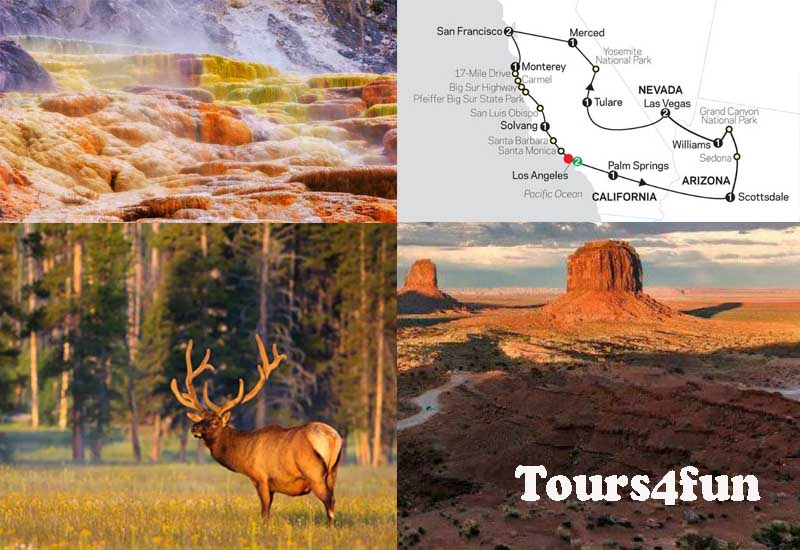 4 Popular Tours4fun Vacation Packages from Los Angeles