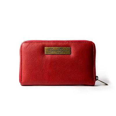 CAMILE RED - Natural Leather Vintage Women's Wallet