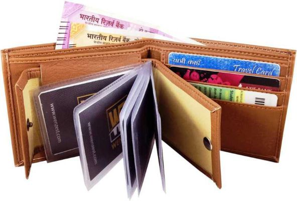 Eaglebuzz Tan New Genuine Leather Wallet Men with Card Slots (E5)