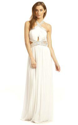 IKRUSH Polly Evening Maxi Dress WHITE