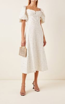 Markarian - Exclusive Greta Cutout Beaded Cotton Dress