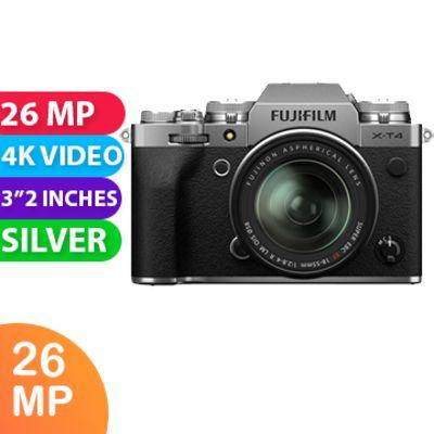 New Fujifilm X-T4 Kit 18-55 Digital Camera Silver