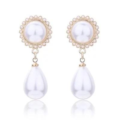 SHARKBABY Sunflower pearl Earrings-Gold Regular