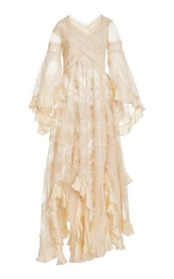 Zimmermann - Charm Star Ruffled Silk Maxi Dress