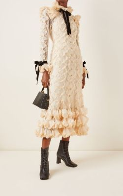 Zimmermann - Lucky Ruffled Cotton-Blend Lace Maxi Dress