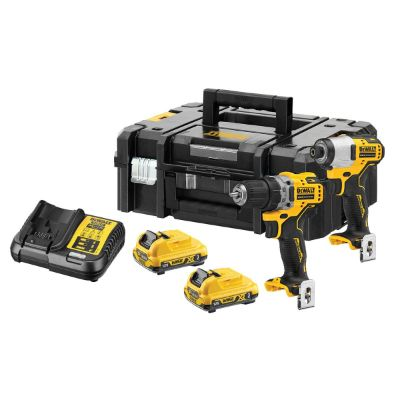 Dewalt DCK2110L2 12v XR Brushless Sub-Compact Twin Pack 3.0Ah Kit - Black & Yellow