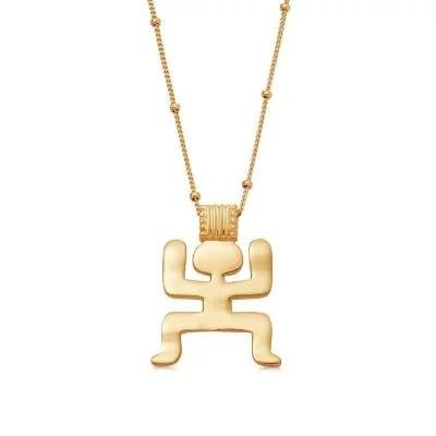 Gold large aurelio necklace