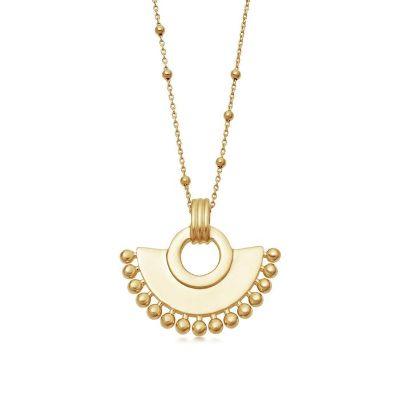 Gold zenyu fan necklace