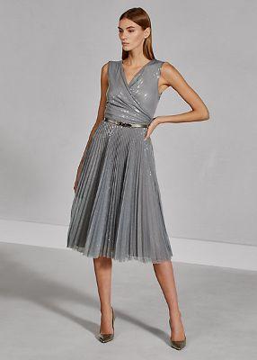 Maegan Sequined Tulle Dress