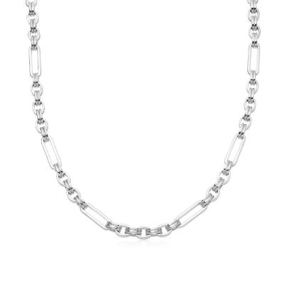 Silver axiom chain necklace