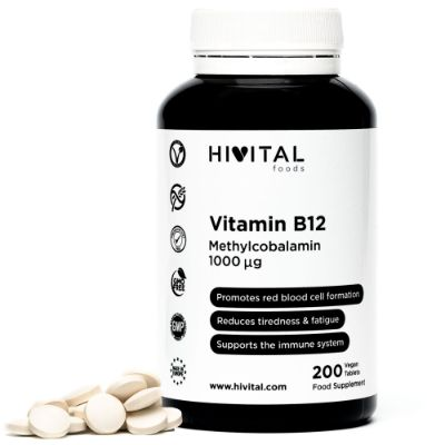 VITAMIN B12 METHYLCOBALAMIN 1000MCG | 200 VEGAN TABLETS