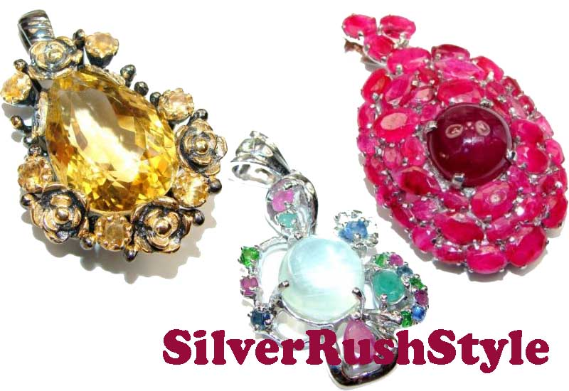 12 Awesome Gemstone Pendants from SilverRushStyle